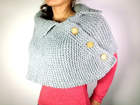 Cómo tejer en telar una capa poncho o mañanita (Tutorial DIY)