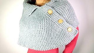getlinkyoutube.com-Cómo tejer en telar una capa poncho o mañanita (Tutorial DIY)