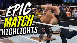 getlinkyoutube.com-WWE 2K16 Wrestlemania 32 Dean Ambrose vs. Brock Lesnar | Epic Match Highlights!