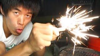 getlinkyoutube.com-送料込190円!火が起こせるマグネシウムファイヤースターター(火打ち石)