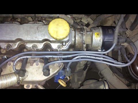 Замена высоковольтных  проводов, бегунка и крышки трамблера | Opel Astra F c14nz