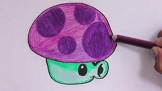 getlinkyoutube.com-Dibujando y coloreando a Puff Shroom (Plantas vs Zombies) - Drawing and coloring Puff Shroom