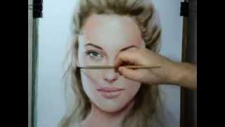 getlinkyoutube.com-Рисование портрета в смешанной технике