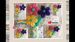 getlinkyoutube.com-FLORES CON LOS PETALOS HACIA ENFRENTE.- HOW TO MAKE  FLOWERS .