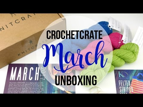 Introducing CrochetCrate!  Unboxing, Giveaway and Review! Episode 402