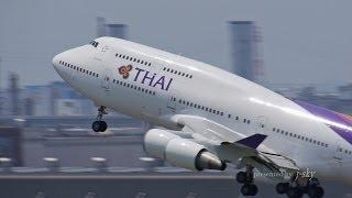 [HND/RJTT] Thai Airways International Boeing 747-4D7 [HS-TGP] take-off [羽田空港・タイ国際航空]