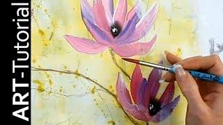 Abstrakte Magnolie mit einfachen Pinselstrichen - Einfach malen - Tutorial von zAcheR-fineT