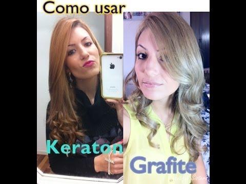 Como usar Keraton Grafite para cabelos alaranjados - Por Camila Lima