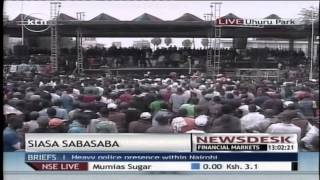 getlinkyoutube.com-Masses gather at Uhuru Park ready for the Saba Saba rally