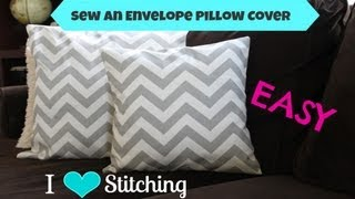 getlinkyoutube.com-Sew an Envelope Pillow Cover: Beginner
