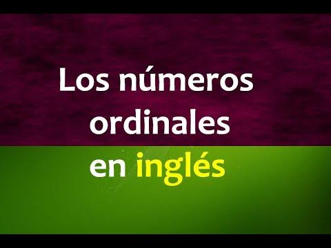 Inglés Americano - Lección 15 - Números Ordinales