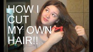 getlinkyoutube.com-HOW I CUT MY OWN HAIR!    The ponytail method