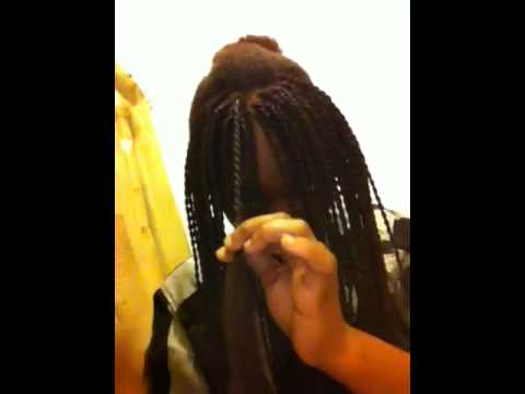 how to double twist your hair