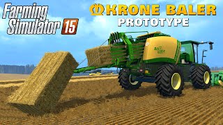getlinkyoutube.com-Farming Simulator 15 Mod KRONE BALER PROTOTYPE