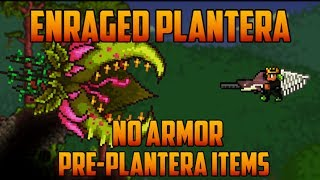 getlinkyoutube.com-Terraria - Enraged Plantera, no armor & pre-plantera gear