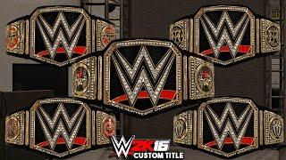 getlinkyoutube.com-WWE 2K16 - Top 5 WWE World Heavyweight Championship!