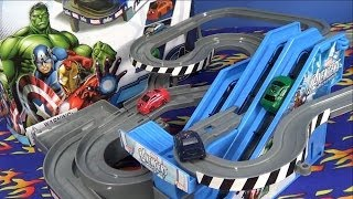 getlinkyoutube.com-Marvel Avengers Roller Coaster Avengers Assemble