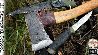 getlinkyoutube.com-Bulletproof Budget Bushcraft Kit For 65$ - Top 3 - Survival Tools - Axe , Saw , Knife - HD Video