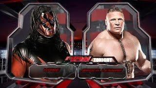 WWE 2K15 Kane Vs Brock Lesnar (Битва за титул WWE)