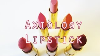 getlinkyoutube.com-Axiology Lipstick Review and Swatches - Vegan, Cruelty Free, Non Toxic Lipstick!