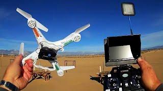 getlinkyoutube.com-Syma X5C 5.8 Ghz FPV Upgrade Kit with Bayangtoys X8 Drone