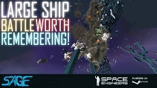 getlinkyoutube.com-Space Engineers, Large ship, vs Small ships, and suicide ships!