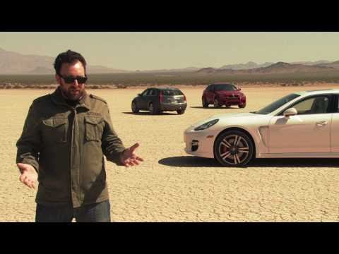 Desert Shootout! 2011 Cadillac CTS-V vs 2011 Porsche Panamera Turbo vs 2011 BMW X6 M