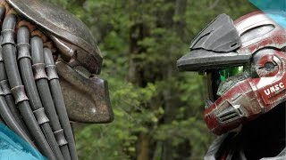 getlinkyoutube.com-Halo vs Predator