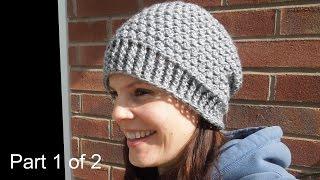 getlinkyoutube.com-(crochet) Pt1: How To Crochet my Cluster Slouchy Beanie - Yarn Scrap Friday