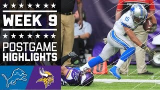 getlinkyoutube.com-Lions vs. Vikings (Week 9) | Game Highlights | NFL