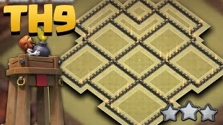 getlinkyoutube.com-Town Hall 9 BEST War Base Anti 3 Star Update *BOMB TOWER*  (TH9 Anti Queen Walk/Valkyries) + Replays