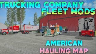 getlinkyoutube.com-FARMING SIMULATOR 2017 - CUSTOM PETERBILTS, FLATBED & BOX TRAILERS | MAP TOUR!