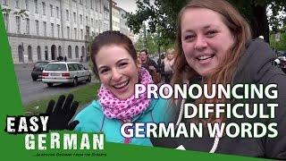 getlinkyoutube.com-Easy German 88 - Dana pronounces difficult German words