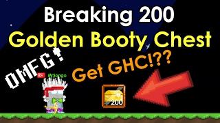 getlinkyoutube.com-GrowTopia | Breaking 200+ Golden Booty Chest | Valentine 2017