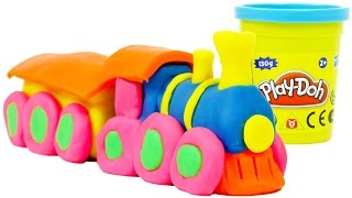 getlinkyoutube.com-Play Doh Train We Make from Playdough Toys Trains for Children