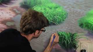 "getlinkyoutube.com-Clip from ""How To Paint Water"" with Mural Joe"