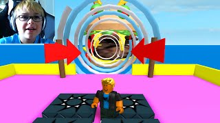 AUTO PLAYS ROBLOX | ESCAPE A GIANT BURGER OBBY | RADIOJH GAMES