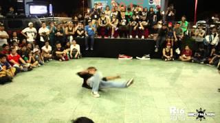 getlinkyoutube.com-Bboy Gunda vs Bboy Harrein | Solo battle | Top 8 | R16 South East Asia 2015 | Bboynation