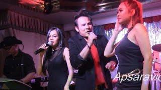 កាងារបំរើប្តី - Bunnat sings  Cambodian rap  song at Legend Seafood LB