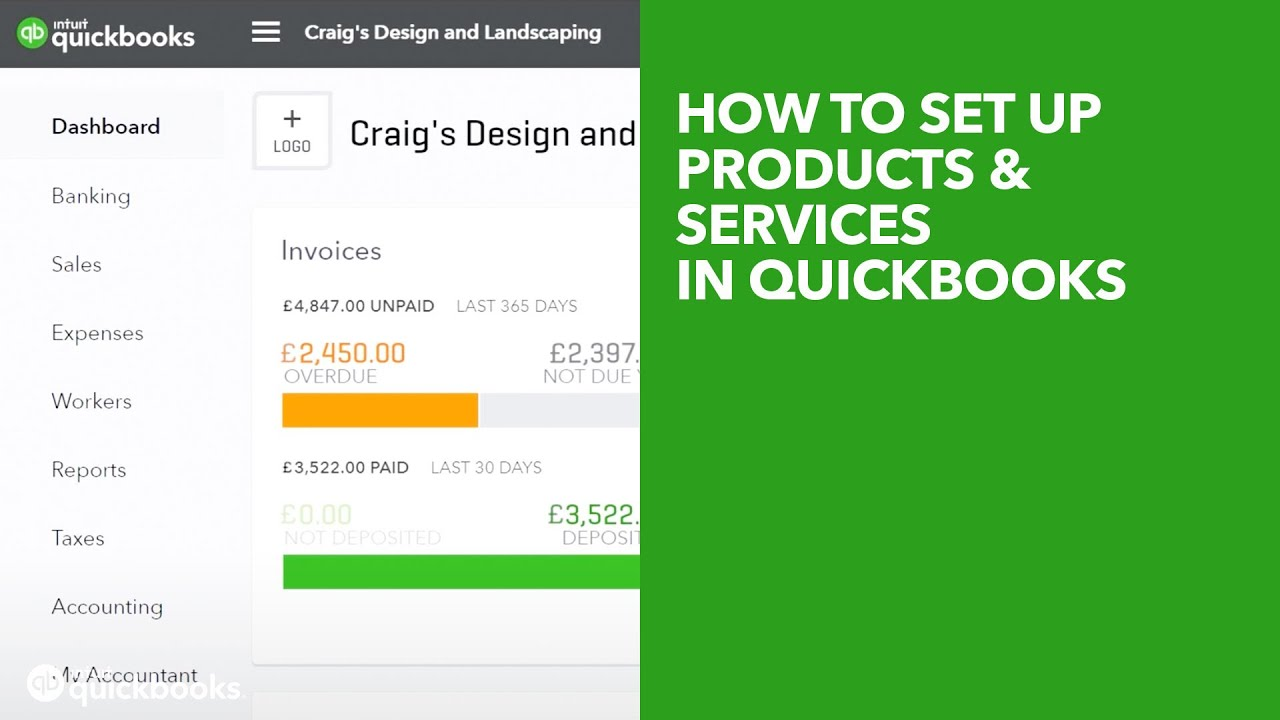 How to setup products and services