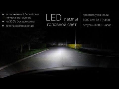 LED авто свет установка и испытание