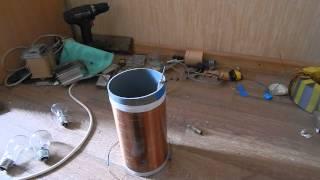 getlinkyoutube.com-Как сделать мощную катушку тесла на транзисторе