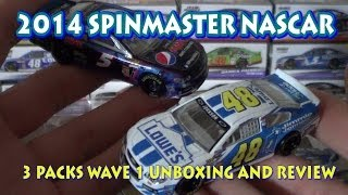 getlinkyoutube.com-2014 Spin Master NASCAR Authentics: Driver Series Wave 1 HD Review and Unboxing