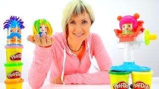 getlinkyoutube.com-Видео для детей Весёлая Школа с Play Doh. Прически. Мультфильм Грузовичок Лева и эвакуатор