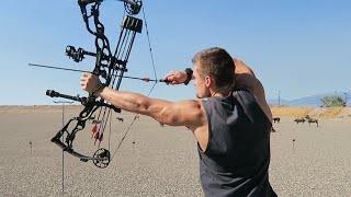getlinkyoutube.com-NEW LONG BOW and COMPOUND SET UP!!