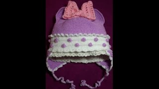 getlinkyoutube.com-1-Шапочка детская утепленая крючком-1часть/Baby Crochet Cap
