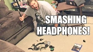getlinkyoutube.com-GRIM SMASHES TWISTERS HEADPHONES TO PIECES