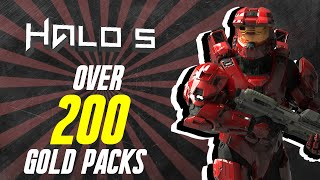 getlinkyoutube.com-HALO 5  200+ GOLD REQ PACKS OPENED! LEGENDARY MYTHIC ARMOR AND WEAPONS!
