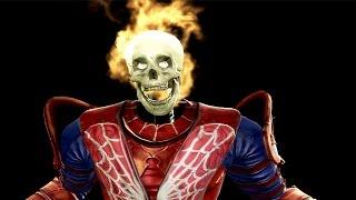getlinkyoutube.com-Spiderman vs Wolverine Mortal kombat 9 Fatalities