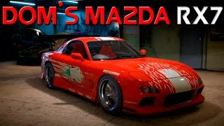 getlinkyoutube.com-Need For Speed 2015 - The Fast And The Furious Dom's Mazda RX7 Customization and Custom Wrap!